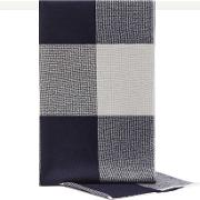 Ginny Wool And Silk Checked Scarf In  Womens