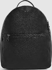 Grayson Textured Leather Backpack