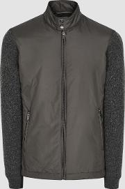 Harlow Wadded Jacket With Knitted Sleeves