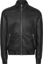 Harris Leather Funnel Neck Jacket