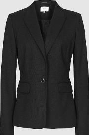 Hartley Cropped Jacket Textured Cropped Blazer