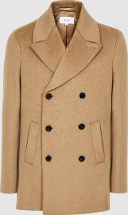 Hector Wool Blend Double Breasted Peacoat
