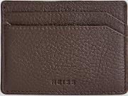 Hellon Grained Leather Card Holder