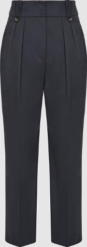Hendrix High Waisted Pleat Front Trousers