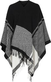 Jessy Lambswool Striped Poncho