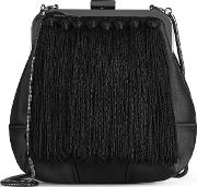 Jinx Tassel Detail Evening Bag In Black, Womens