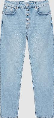Lakely Mid Rise Straight Jeans