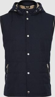 Lark Quilted Gilet With Detachable Hood