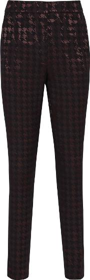 Laura Houndstooth Check Trousers