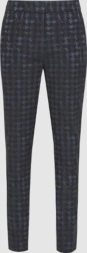 Laura Houndstooth Checked Trousers