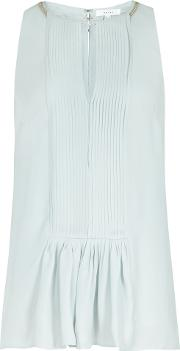 Leondas Pleat And Chain Detail Top In Mint