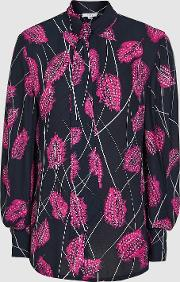 Lily Feather Printed Blouse