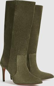 Lily Suede Point Toe Boots