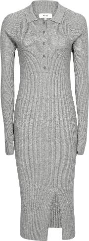 Louise Button Collar Knitted Dress