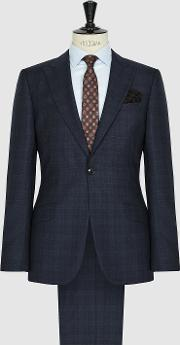 Majestic Checked Modern Fit Suit