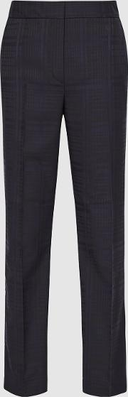 Margot Checked Tapered Trousers
