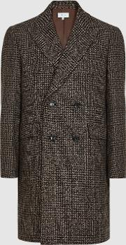 Merit Checked Double Breasted Coat