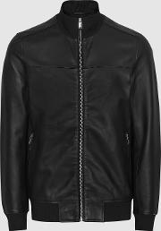 Mineral Leather Bomber Jacket