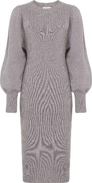 Nordica Flute Sleeve Knitted Dress