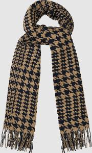 Payne Dogtooth Checked Scarf