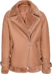 Payton Shearling Aviator Jacket