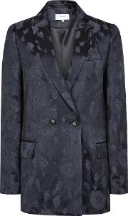 Peony Jacket Jacquard Double Breasted Blazer