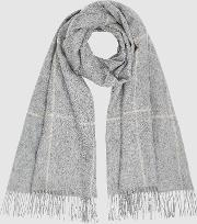 Polly Wool Cashmere Blend Oversized Scarf