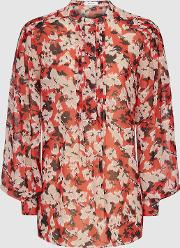 Provence Floral Printed Blouse