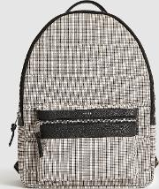 Ramon Checked Leather Trim Backpack