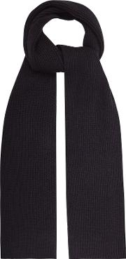 Randolf Ribbed Knitted Scarf