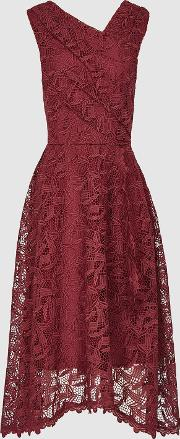 Rayna Wrap Front Lace Dress