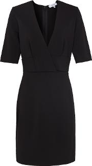 Rebecca Wrap Front Slim Fit Dress