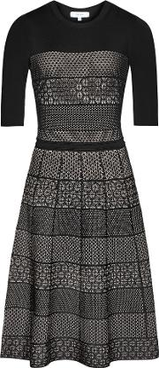 Alithia Technique Knitted Dress In Blackpink