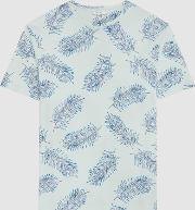 Rio Feather Printed T Shirt