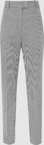 Romy Trouser Wool Blend Checked Trousers