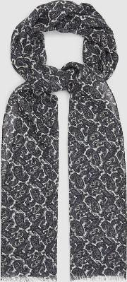 Ross Wool Paisley Scarf