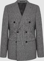 Ruck Linen Wool Blend Double Breasted Blazer