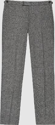 Ruck Linen Wool Blend Slim Fit Trousers