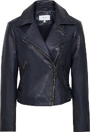 Sadie Leather Biker Jacket