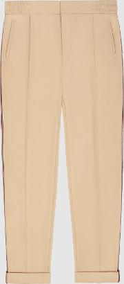 Salmon Casual Trousers With Side Stripe