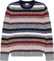 Stormy Striped Crew Neck Jumper