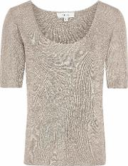 Tabby Metallic Knitted Top