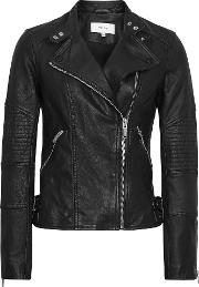 Tay Leather Biker Jacket