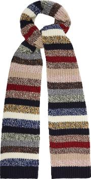 Thunder Lambswool Blend Striped Scarf