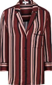 Tilda Striped Satin Pyjama Shirt