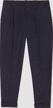 Tokyo Linen Pleat Front Tapered Trousers