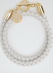 Toucan Leather And Metal Bracelet In Cream, Womens