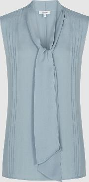 Trudie Pintuck Detail Sleeveless Blouse