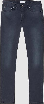 Viscount Jersey Stretch Tapered Slim Fit Jeans