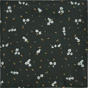 William Floral Printed Silk Pocket Square